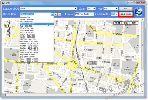 google map saver谷歌地图下载器