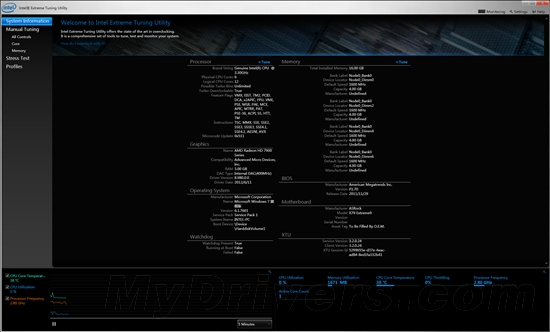 英特尔极限超频工具(Intel Extreme Tuning Utility)