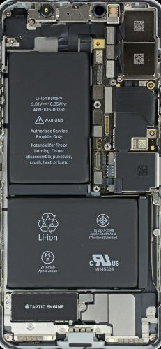 iPhoneX拆机壁纸