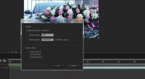 使用Ae制作出倒镜头效果的操作步骤