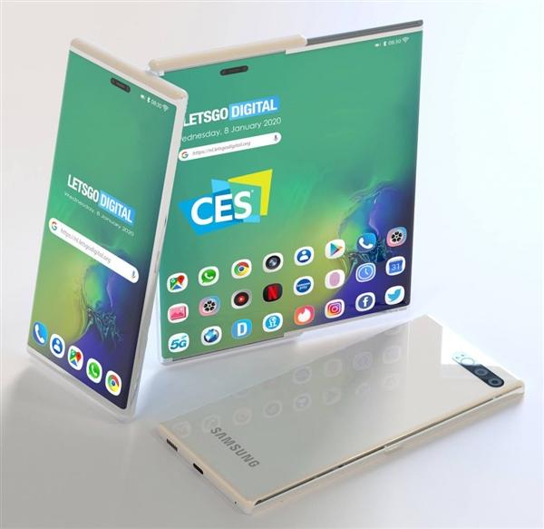 三星在CES閉門展示側滑式伸縮屏手機:6寸秒變8寸