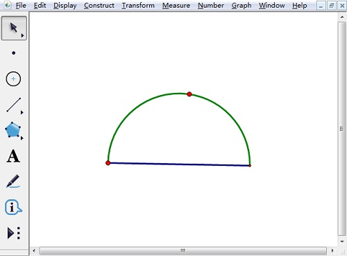 几何画板制作半圆的简单操作