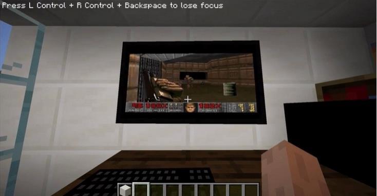 《我的世界》玩家可在游戏中启动 Windows 95 电脑,还可以在上面玩 Doom