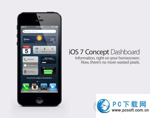 苹果iOS7.0即将推出:加入桌面插件功能