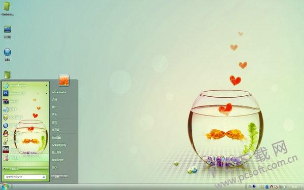 魚缸里的愛情主題
