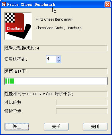 國際象棋測試軟件(fritz chess benchmark)