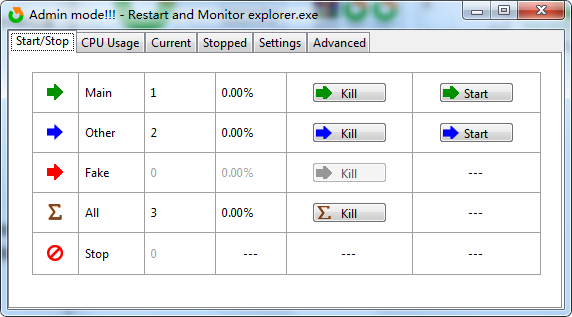 Restart and Monitor Explorer