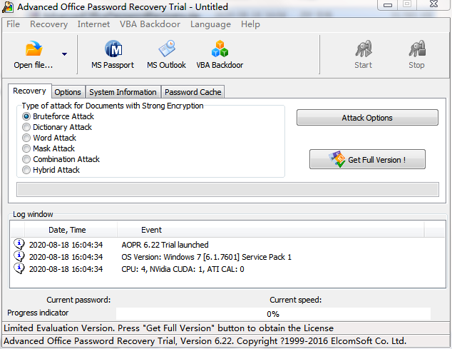Advanced Office Password Recovery截图0