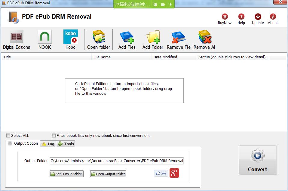PDF ePub DRM Removal(PDF DRM删除器)