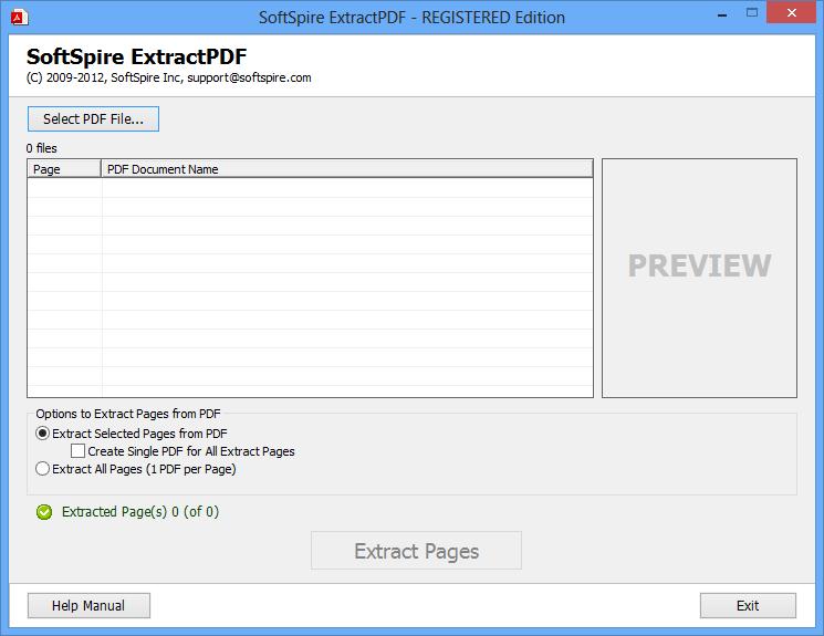 SoftSpire ExtractPDF