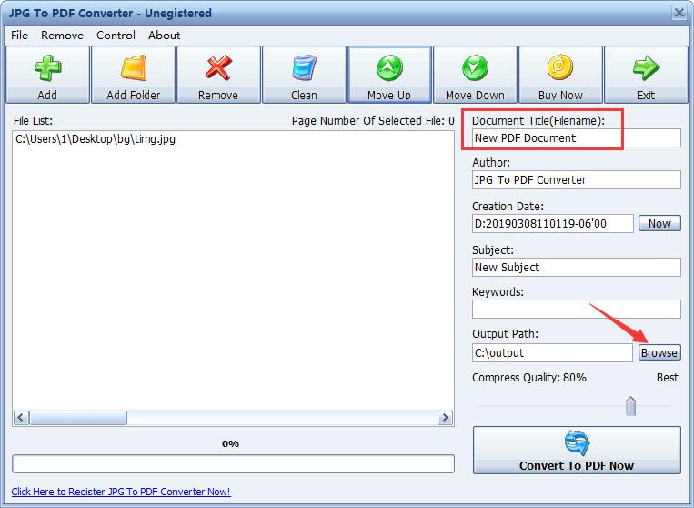 JPG转PDF转换器截图