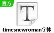 timesnewroman字体段首LOGO